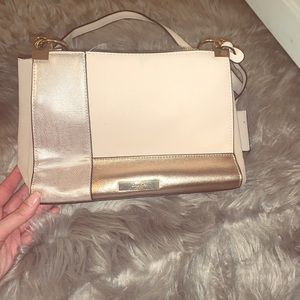 Dune London metallic gold beige purse crossbody